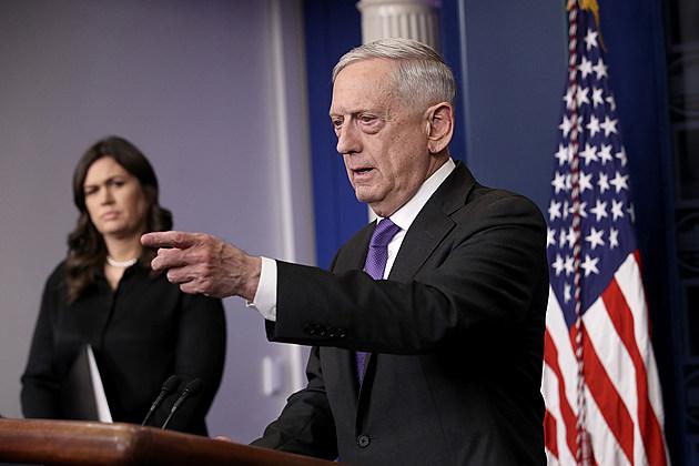 Defense Secretary Mattis Holds Media Briefing At The White House